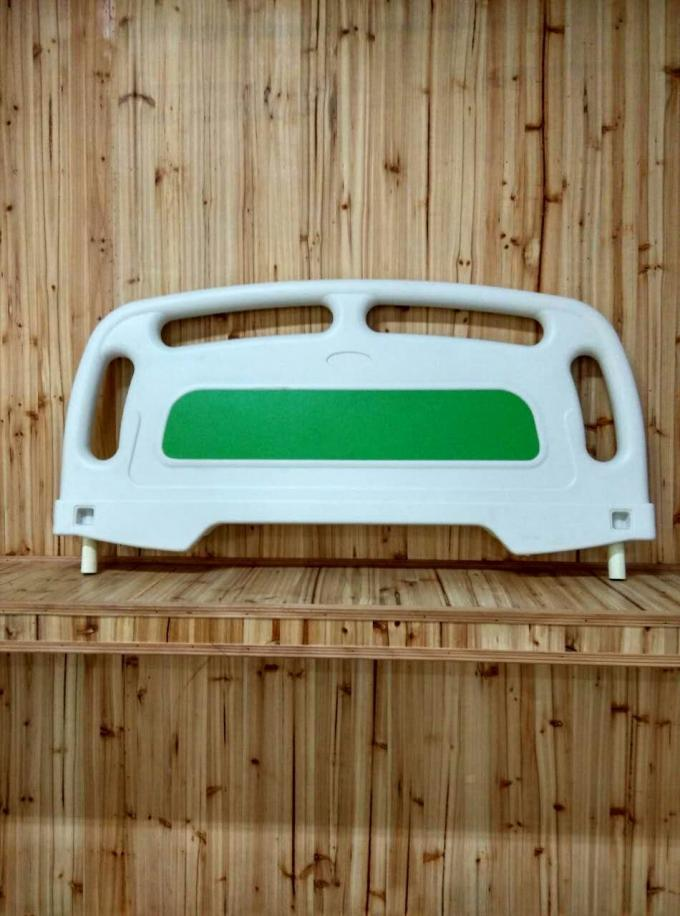 Laminated Panel PP Hospital Bed Headboard , Green Wood Hospital Bed Parts