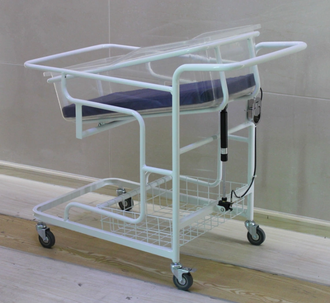 Hospital Bed Specific Use and Hospital Furniture Type Medical baby Bed With Brake Castor
