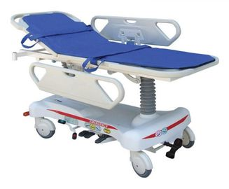 China Hospital ABS Emergency Stretcher Trolley Hydraulic Adjustable For Patient Transfer supplier