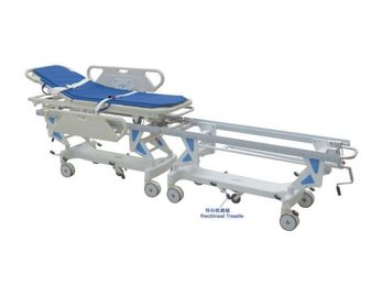 China Water Proof Emergency Patient Trolley Central Brake PU Cover Transportation Cart supplier