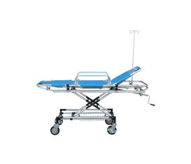 China Aluminum Alloy Emergency Trolley Equipment , First Aid Hospital Patient Trolley supplier