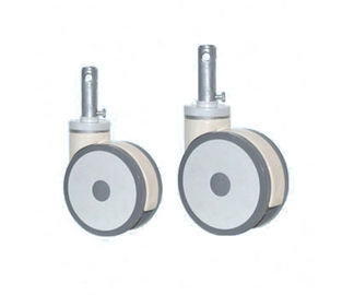 China Height 255mm Central Control Hospital Castors PU PA ABS Flexible Anti Corrosion supplier