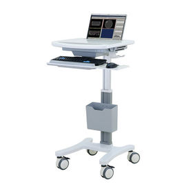 China Aluminum Rolling Computer Cart Medical All In One With Table Height 80-120cm supplier