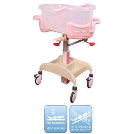Steel Epoxy Pink Hospital Baby Crib Steel Epoxy Adjustable By Gas Spring Hospital Newborn Baby Crib