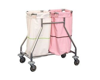 China Medical Waste Collecting Hospital Instrument Trolley Stainless Steel Medical Emergency Cart supplier