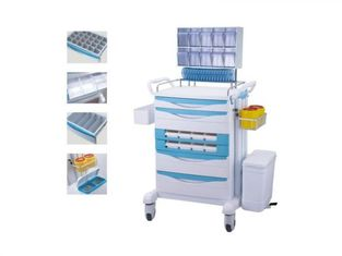 China Light - Weight Medical Instrument Trolley , ABS Medical Equipment Trolley supplier