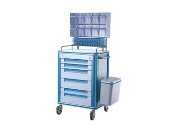 China Plastic Anesthesia Medical Push Cart With Mute Wheel Aluminum Alloy Frame 630*470*1500mm supplier