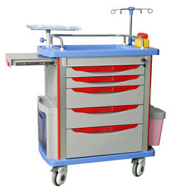 China hospital emergency trolley luxurious  abs plastic drawer cart with wheels supplier