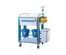 China Plastic Surgical Instrument Trolley Hospital Serving Movable For Medical Treatment Crash supplier