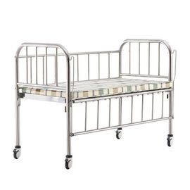 China Four Silent Wheels Hospital Baby Crib Anti Rust With Stainless Steel Frame supplier