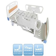 China Patient Electric Nursing Bed 460-750mm Height with Collapsible PP Side Rails supplier