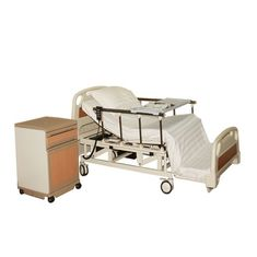 China Metal Electric Nursing Bed Carbon Steel With ABS Panel Five Functions Motor supplier