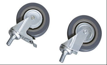 PU Industrial Hospital Castors With TPR Core , Medical Castors For Cart