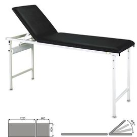 Black Color Back Section Hospital Examination Table Up And Down By Manual Way