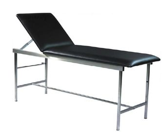 Black Color Legs Medical Examination Couch , Medical Examination Table