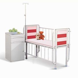 China Medical Furniture Hospital Baby Crib Pink Color With One Crank Height Adjustable Hospital Baby Bed supplier