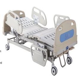 China Three Cranks Hospital Manual Hospital Bed  Detachable PP Head & Foot Board Medical Bed supplier