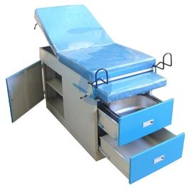 Powder Coated Steel Obstetric Delivery Table 2 Section Mattress ISO And CE Certificate