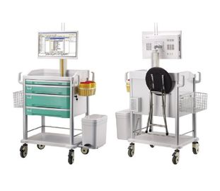 China Wireless E Work Solutions Medical Computer Trolley Mobile Information Nursing Vehicle supplier