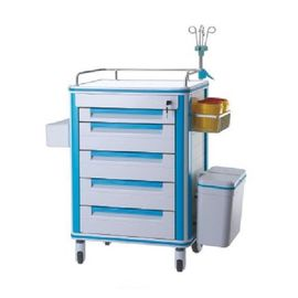 China Drug Dispenser Medical Instrument Trolley Stainless Steel Frame For Nurses supplier