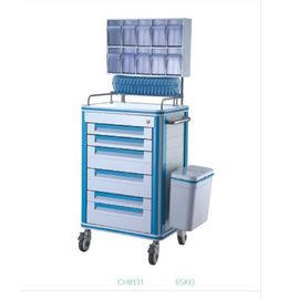 China Beautiful Appearance Drug Truck Medical Instrument Trolley Silent Side Ways Medical Emergency Trolley Cart supplier