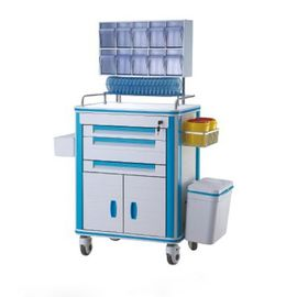 China Aluminum Alloy Frame Medical Supply Cart With Medicine Box Label Holder Drug Delivery Cart supplier