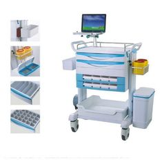 China Emergency Medical Treatment Trolley Drug Delivery Cart With Optional Parts Hospital Trolley supplier