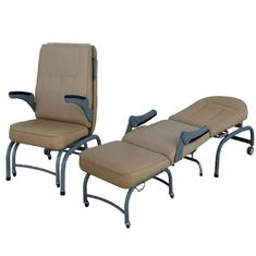 China Three Section Accompany Chair Hospital Furniture Foldable Can Be Use As A Bed supplier