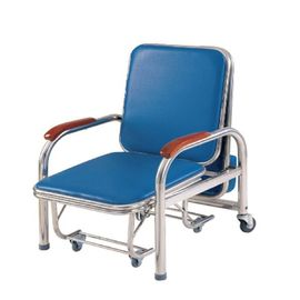 Stainless Steel Accompany'S Chair Bed , Foldable Sleeping In Hospital Chair