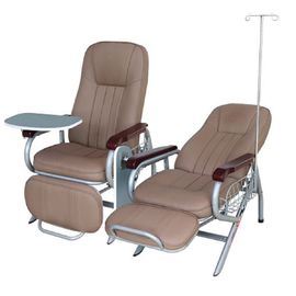 Luxious Hospital Transfusion Chair For Patient Use , Back Rest And Foot Rest Adjustable