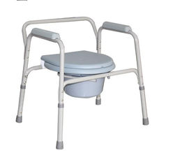 China Steel Tubular Frame Toilet Chair Indoor Or Outdoor Assembled Type CE And ISO Certificate Rest supplier
