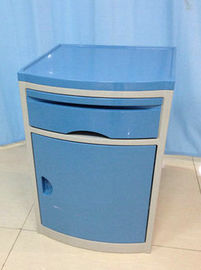 ABS Plastic Movable Hospital Bedside Table Medical Drawers Cabinet With Four Castors