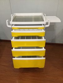Carton Packing Medical Trolley Cart Hospital Equipment , Emergency Crash Trolley