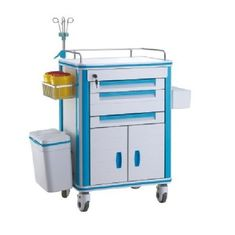 Anesthesia Medical Trolley Cart For Hospital Emergency , Resuscitation Crash Cart