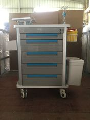 China Stainless Steel Medical Trolley Cart , Hospital Icu Emergency Trolley Drug Delivery supplier