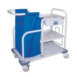 Hospital Treatment Nursing Care Crash Cart Trolley With Bag For Long Life
