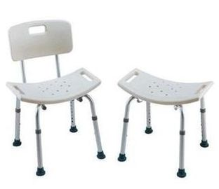 China Lightweight Bath Height Adjustable Shower Chair , Padded Seat Shower Bathroom Chair supplier