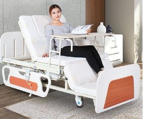 China Medical Bed Back Adjustable Rotating Hospital Electric Nursing Bed For Home In White supplier