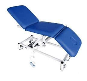 Comfortable Medical Examination Table Electric Nursing Bed Blue Color Use In Hospital