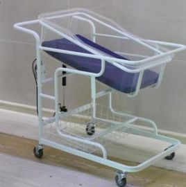 Metal New Born Baby Cart Bed Hospital Crib Commercial Furniture For Clinic