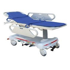 Electric Hydraulic Patient Transfer Stretcher Gurney Cart Customizable With Rails