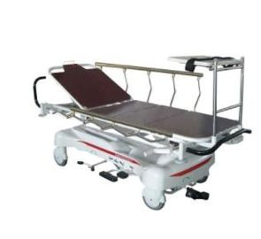 X - Ray Hydraulic Rise And Fall Stretcher Cart , Ambulance Trolley CE Certificate