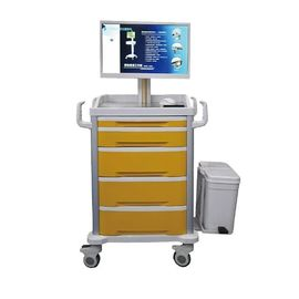 All In 1 Computer Moving Cart Hospital Mobile Medical Computer Laptop Workstation Trolley
