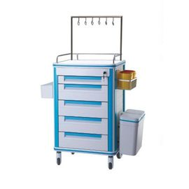 OEM Design ABS Utility Furniture Medical Trolley With Drawers , Medical Equipment Trolley