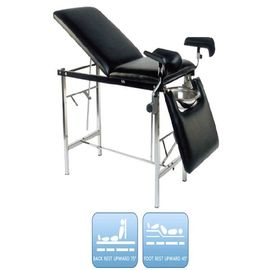 1800*550*750mm Hospital Delivery Bed Stainless Steel Leg Holder With Height Adjustable