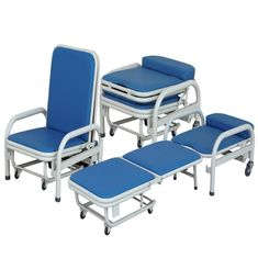 Medical Manual Foldable Accompanying Hospital Chair Stainless Steel Dining