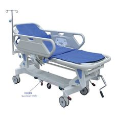 China Luxurious Hydraulic Emergency Stretcher Trolley For Hospital With Wheels supplier