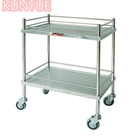2 Tier Stainless Steel Metal Medical Trolley Kitchen Hospital Salon Lab Equipment