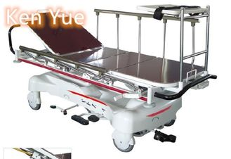 China Luxuriou Hydraulic Rise And Fall Stretcher Cart Hospital Emergency Transfer supplier
