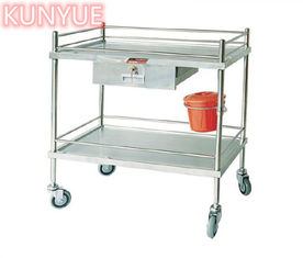 Treatment Instrument Surgic Tool Medical Trolley Cart With One Drawers Stainless Steel